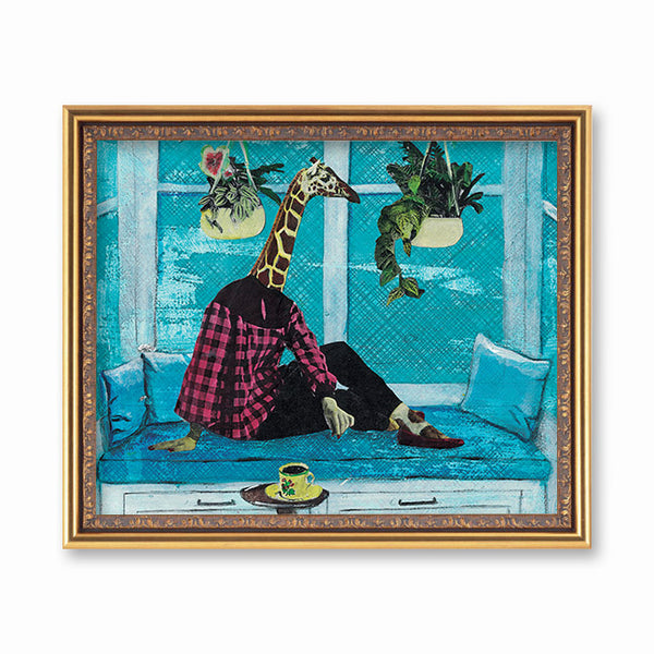 Window Giraffe Art Print