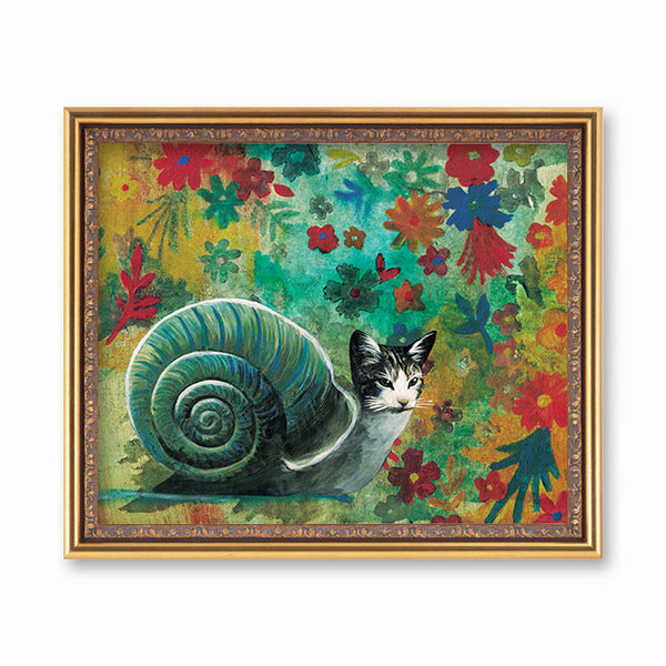 Snail Cat Art Print