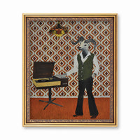 Art for Vintage Lovers - Groove Sheep Art Print  - Man Cave Art by Pergamo Paper Goods