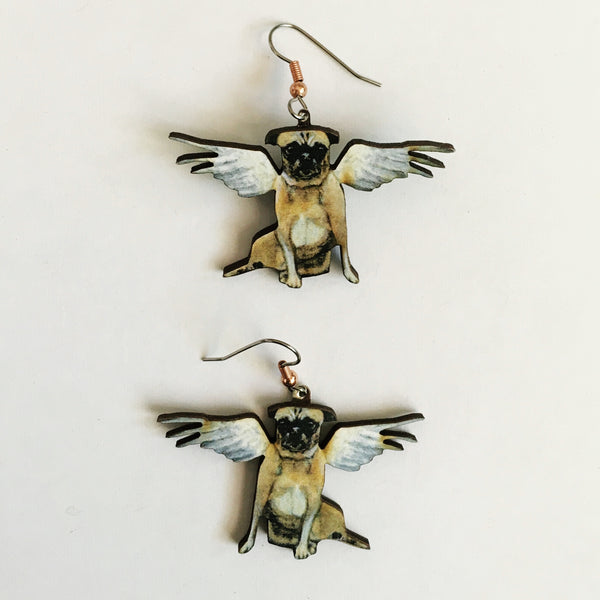 Angel Pug Earrings