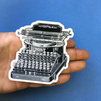 Vintage Typewriter Vinyl Stickers - Gifts for Writers, Vintage Lovers - Pergamo Paper Goods - Vintage Inspired Collage Art for Animal Lovers