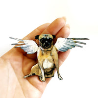 Housewarming Gifts for Dog Lovers, Pug Lovers - Angel Pug Magnet www.pergamopapergoods.com
