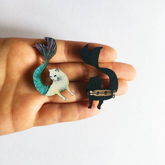 Mermaid Cat Pin