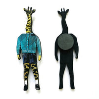 Animal Lover Gifts with a Vintage Twist - Retro Giraffe Boy Magnet www.pergamopapergoods.com
