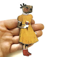 Anthropomorphic Animal Art Illustrated Gifts - Otter Magnet www.pergamopapergoods.com