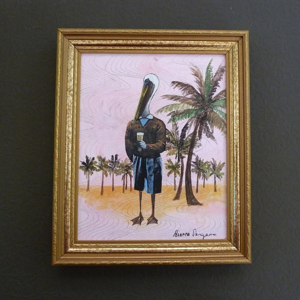 Pelican Man Painting |