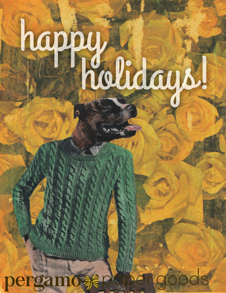 Pit Bull Holiday Card or Card Set