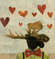 Love Moose Art Print