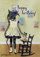 """Happy Birthday"" Rodent Girl Card"