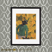 Vintage Inspired Animal Illustrations - Sweater Pit Bull Art Print by Pergamo Paper Goods