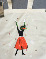 Alligator Tote Bag - Organic Cotton Tote