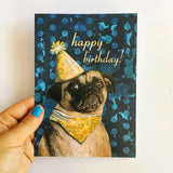 Pug Birthday Card