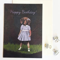 Card for Dachshund Lovers, Happy Birthday Dachshund, Funny Dachshund Card, Handmade Dachshund Card