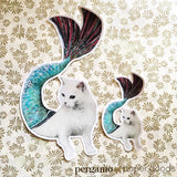 Mermaid Cat Vinyl Sticker
