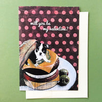 Dog Valentine Greeting Card with Envelope