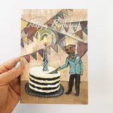 Giant Cake Otter Birthday Card