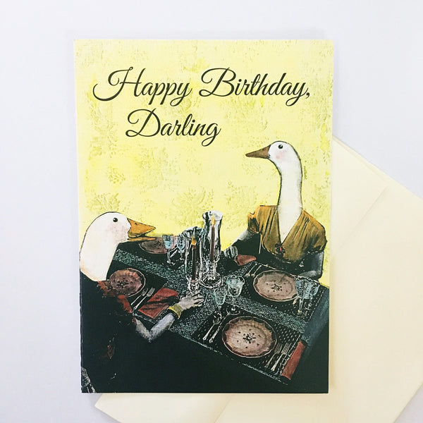 """Happy Birthday, Darling"" Ducks Card"