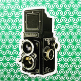 Retro camera vinyl sticker