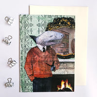 Shark stationery. Fun shark illustration, retro animal illustration.