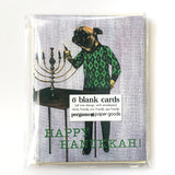 Pug Hanukkah Card or Card Set