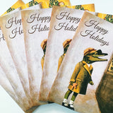 Alligator Holiday Card or Card Set - Window Gator