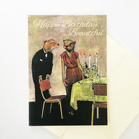 Fancy Otters Birthday Card