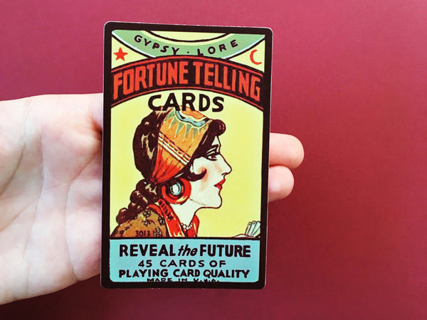 fortune telling sticker, magical sticker, cool vinyl sticker, fortune telling laptop sticker, tarot laptop sticker
