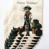 Alligator Holiday Card or Card Set - Present Gator