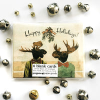 Gay holiday card set, Unique gay cards, unique holiday cards, handmade holiday cards