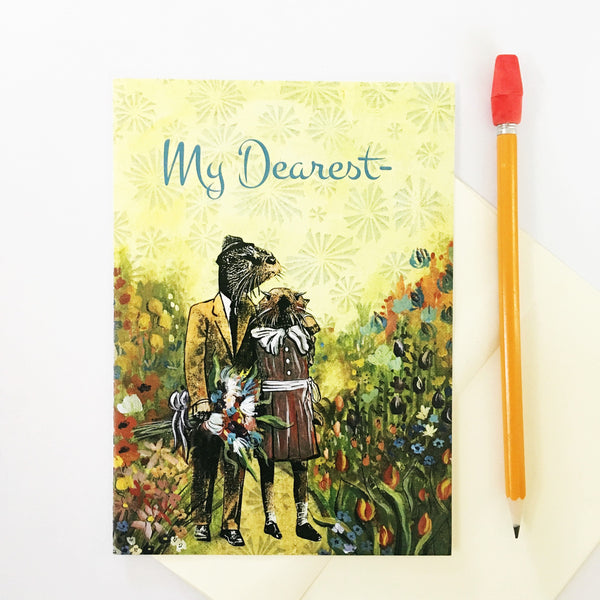 "Otters Love Card ""My Dearest"""