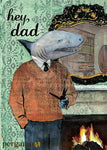 Animal Greeting Cards for Vintage Lovers- Shark Dad Card www.pergamopapergoods.com