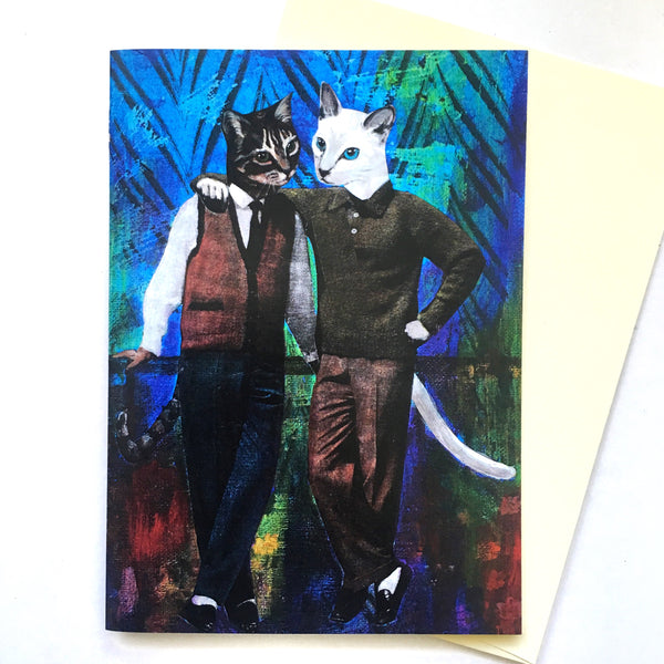 Cat Boys Greeting Card
