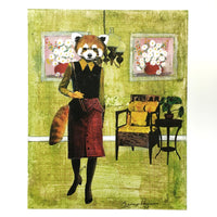 Red Panda Lady Art Print