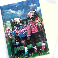 Ice Cream Pugs Greeting Card