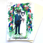 Congratulations Cat Wedding Card