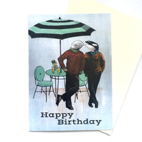 """Happy Birthday"" Orca and Beluga Card"