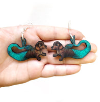 Dachshund Mermaid Earrings