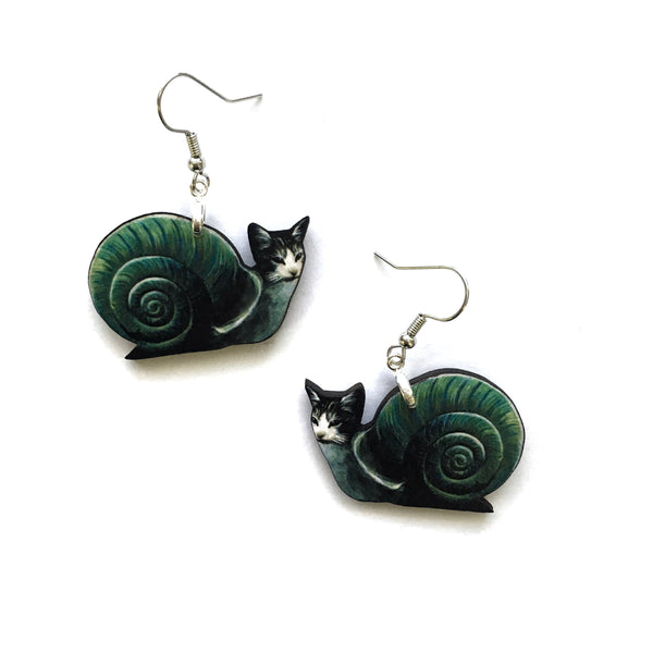 Snail Cat Earrings
