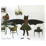 Bat Art Print - Weird Art for Animal Lovers - Vintage Inspired Animal Art by Pergamo Paper Goods