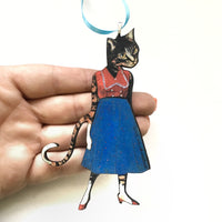 Red Heels Cat Lady Ornament