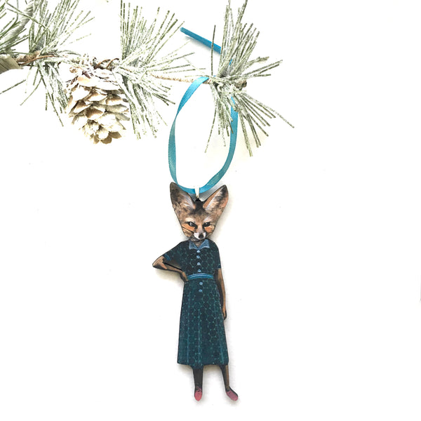 Sassy Fox Lady Ornament