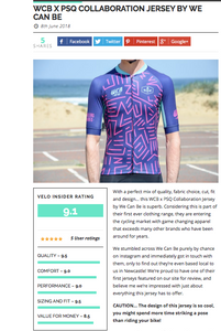Veloinsider review our WCB x PSQ Jersey