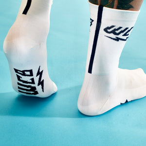 Pure White Race Sock