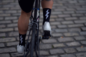 Black Bolt Race Sock