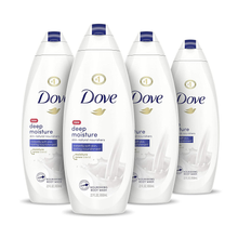 Load image into Gallery viewer, Dove Body Wash with Skin Natural Nourishers for Instantly Soft Skin and Lasting Nourishment Deep Moisture Effectively Washes Away Bacteria While Nourishing Your Skin 22 oz, 4 Count