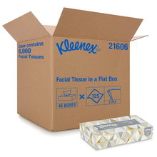 Load image into Gallery viewer, Kleenex Professional Facial Tissue for Business (21606), Flat Tissue Boxes, 48 Boxes/Case, 125 Tissues/Box