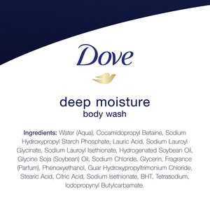 Dove Body Wash with Skin Natural Nourishers for Instantly Soft Skin and Lasting Nourishment Deep Moisture Effectively Washes Away Bacteria While Nourishing Your Skin 22 oz, 4 Count