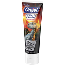 Load image into Gallery viewer, Orajel Jurassic World Anticavity Fluoride Toothpaste- Berry Blast Flavor- Kids Toothpaste 4.2oz Tube