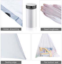 Load image into Gallery viewer, 2 Gallon Drawstring Trash Bags,Small Kitchen Garbage Bags Strong Small Trash Bag for Kitchen Bathroom Bedroom Office 19 X 17 inch,200 Counts White