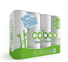 Load image into Gallery viewer, Caboo Tree Free Bamboo Toilet Paper with Septic Safe Biodegradable Bath Tissue, Eco Friendly Soft 2 Ply Sheets - 300 Sheets Per Roll, 24 Double Rolls